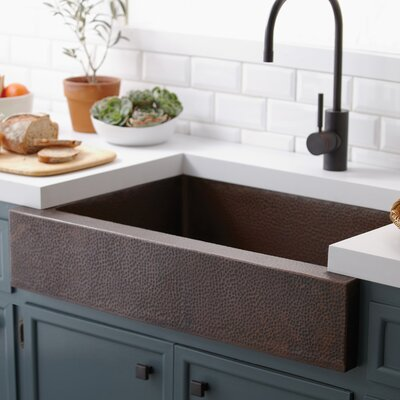 Paragon 33 x 22 Farmhouse Kitchen Sink Finish: Antique Copper