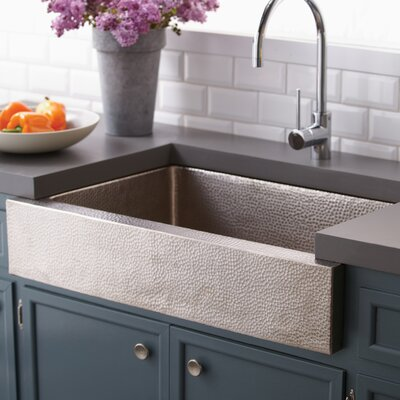 Paragon 33 x 22 Copper Kitchen Sink Finish: Brushed Nickel