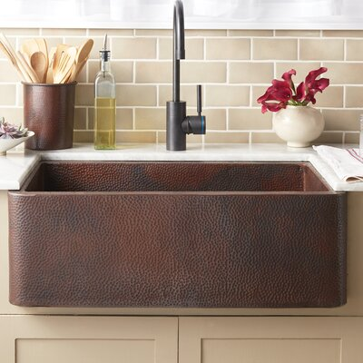 Farmhouse 30 x 18.5 Copper Kitchen Sink Finish: Antique Copper