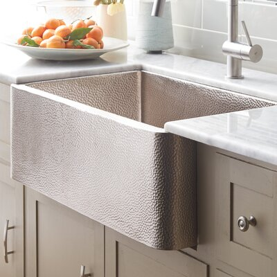Farmhouse 30 x 18.5 Copper Kitchen Sink Finish: Brushed Nickel