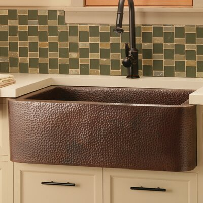 Farmhouse 33 x 22 Copper Kitchen Sink Finish: Antique Copper
