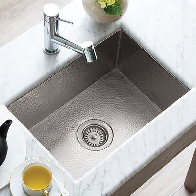 Cocina 21.5 x 16 Copper Kitchen Sink Finish: Brushed Nickel