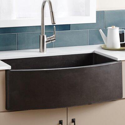 Farmhouse 33 x 20.5 Quartet Kitchen Sink Finish: Slate