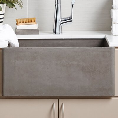 Farmhouse 24 x 18 Kitchen Sink Finish: Ash