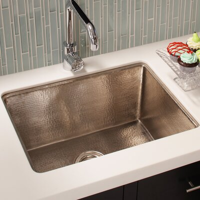 Cocina 24 x 18 Copper Kitchen Sink Finish: Brushed Nickel