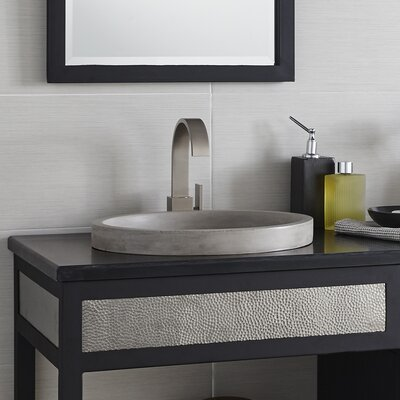 Tolosa Self Rimming Bathroom Sink Sink Finish: Ash