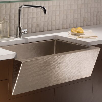 Zuma 33 x 22 Copper Kitchen Sink Finish: Brushed Nickel
