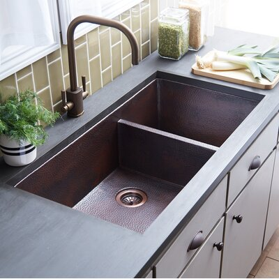 Cocina 40 x 21 Duet Pro Copper Kitchen Sink Finish: Antique Copper