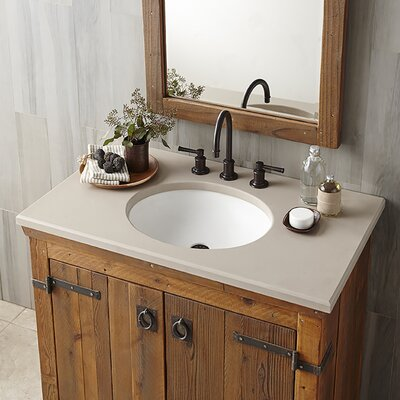 Tolosa Self Rimming Bathroom Sink Sink Finish: Pearl