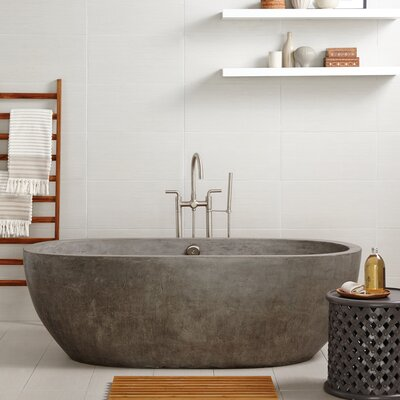 Avalon 72 x 36 Freestanding Soaking Bathtub Color: Ash