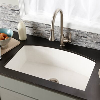 Farmhouse 33 x 20.5 Quartet Kitchen Sink Finish: Pearl