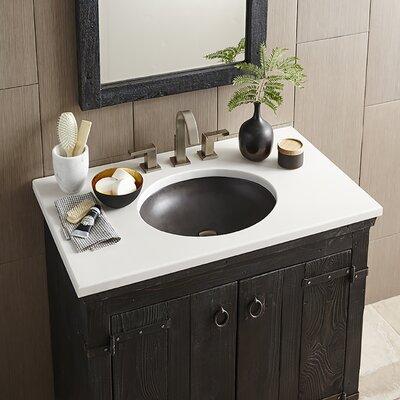 Tolosa Stone Oval Drop-In Bathroom Sink Sink Finish: Slate