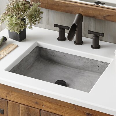 Nipomo Rectangular Vessel Bathroom Sink Sink Finish: Ash