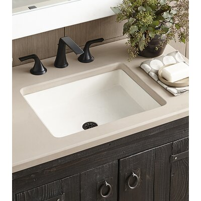 Nipomo Rectangular Vessel Bathroom Sink Sink Finish: Pearl