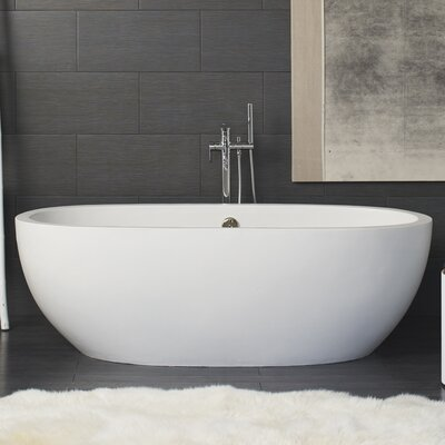 Avalon 72 x 36 Freestanding Soaking Bathtub Color: Pearl