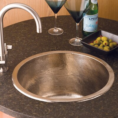 17.75 x 17.75 Redondo Grande Hand Hammered Bar Sink Finish: Brushed Nickel