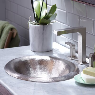 Maestro Metal Oval Drop-In Bathroom Sink