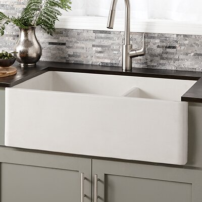 Farmhouse 33 x 21 Double Bowl Kitchen Sink Finish: Pearl
