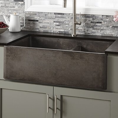 33 x 21 Double Basin Farmhouse Kitchen Sink Finish: Slate