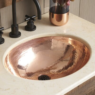 Classic Metal Oval Undermount Bathroom Sink Sink Finish: Polished Copper
