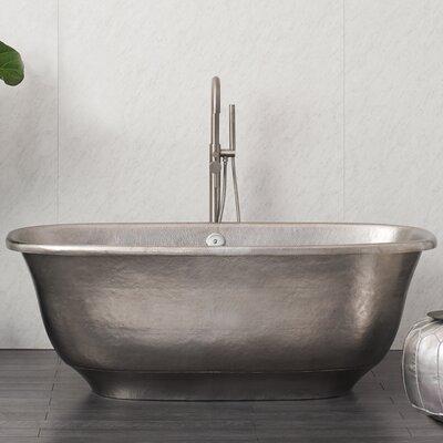Santorini 66 x 32.5 Freestanding Soaking Bathtub Color: Brushed Nickel