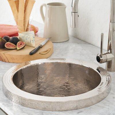 Mojito 16 x 16 Drop-In Bar Sink Sink Finish: Polished Nickel