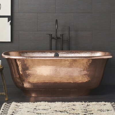 Santorini 66 x 32.5 Freestanding Soaking Bathtub Color: Polished Copper