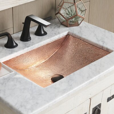 Avila Metal Rectangular Undermount Bathroom Sink Sink Finish: Polished Copper