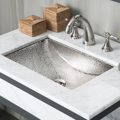 Avila Rectangular Undermount Bathroom Sink Sink Finish: Polished Nickel