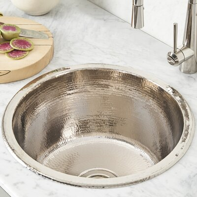 Redondo Grande 17.75 x 17.75 Drop-In Bar Sink Finish: Polished Nickel