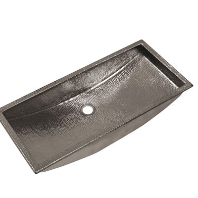 Trough Metal Rectangular Undermount Bathroom Sink Sink Finish: Polished Copper
