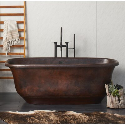 Santorini 66 x 32.5 Freestanding Soaking Bathtub Color: Antique Copper