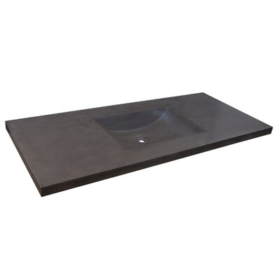 Palomar 49 Single Bathroom Vanity Top Top Finish: Slate