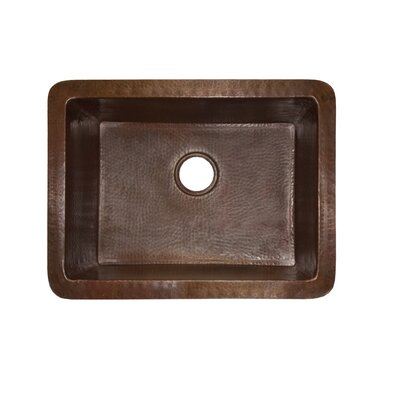 Cocina 24 x 18 Copper Kitchen Sink Finish: Antique Copper