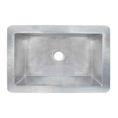 Cocina 33 x 22 Copper Kitchen Sink Finish: Brushed Nickel