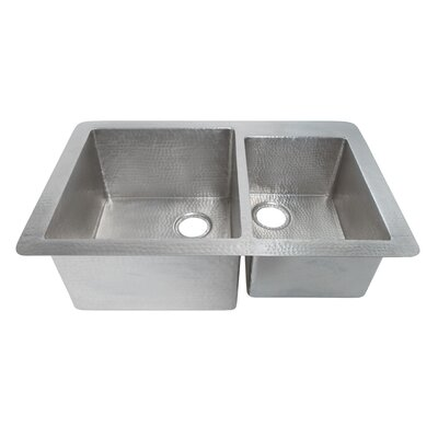 Cocina 33 x 22 Duet Copper Kitchen Sink Finish: Brushed Nickel