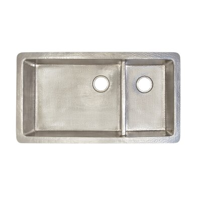 Cocina 40 x 22 Duet Pro Copper Kitchen Sink Finish: Brushed Nickel