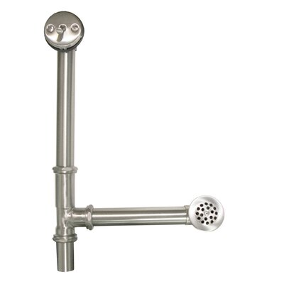 Aurora 6 Trip lever Tub Drain With Overflow Finish: Brushed Nickel