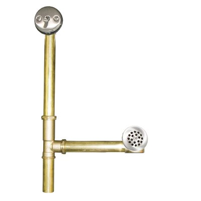Sink 15.5 Trip Lever Tub Drain Finish: Brushed Nickel