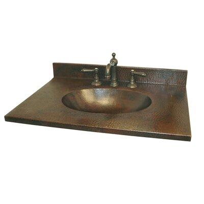 Sedona 25 Single Bathroom Vanity Top Finish: Antique Copper