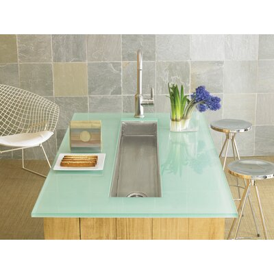 50 x 11 Rio Grande Copper Bar Sink Finish: Brushed Nickel