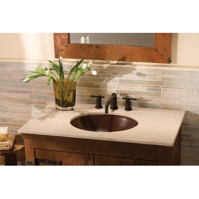 Crema 37 Single Bathroom Vanity Top Cut-Out Configuration: 7
