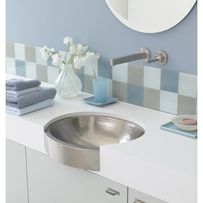 Copper Bathroom Sinks Metal Oval Undermount Bathroom Sink Sink Finish: Brushed Nickel