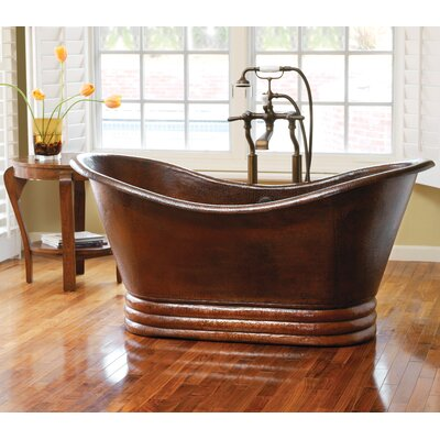 72 x 32 Freestanding Whirlpool Bathtub Finish: Antique Copper