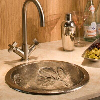 Palomar 15 x 15 Drop-In Bar Sink Finish: Brushed Nickel