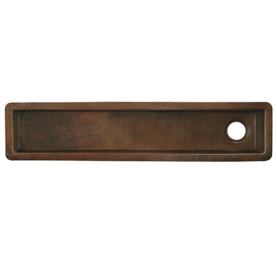 50 x 11 Rio Grande Copper Bar Sink Finish: Antique Copper