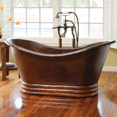 60 x 29 Freestanding Whirlpool Bathtub Finish: Antique Copper