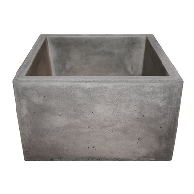 Ventana 15 x 15 Stone Bar & Prep Kitchen Sink Finish: Ash