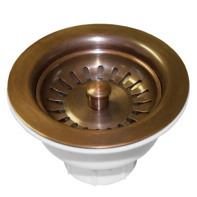 3.5 Grid Kitchen Sink Drain Finish: Solid Copper