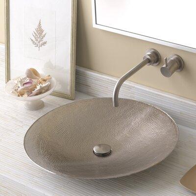 Maestro Metal Circular Vessel Bathroom Sink Sink Finish: Brushed Nickel